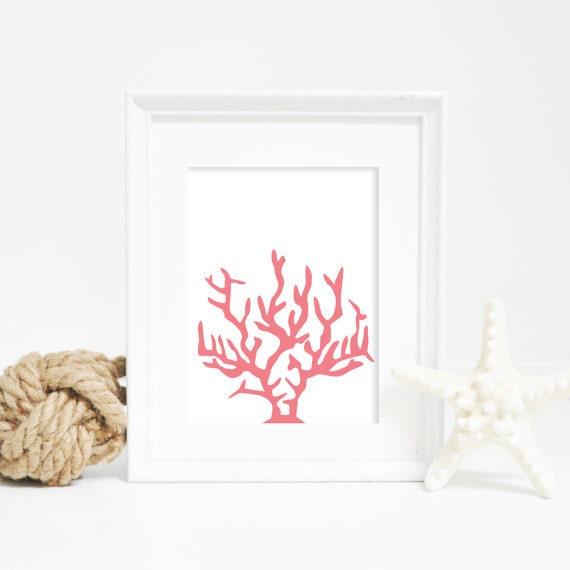 Coral Print, Beach Art Print, Coral Decor, Coral Art Print, Beach House Print, Art Prints, Wall Decor, Wall Art, Ocean Prints, Ocean Decor