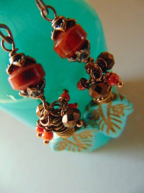 Turquoise Leaves Earrings