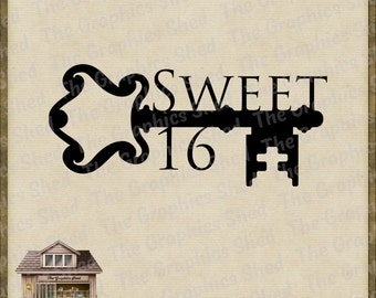 Sweet 16 Party Svg Etsy