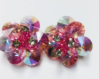 Pale Pink Gemstone Clip-On Earring