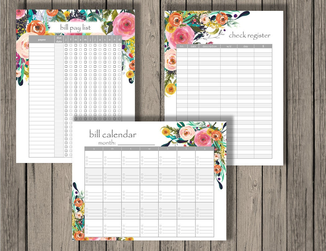 It is an image of Epic Printable Check Register Half Page