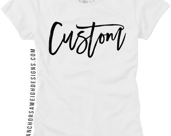 Custom Women's Crew Neck Tee