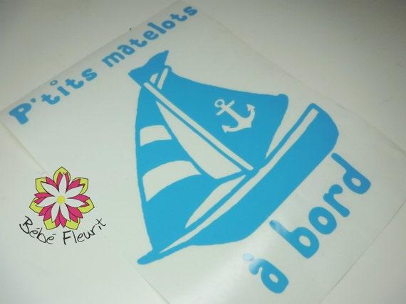 vinyle Baby on board boy bébé à bord matelot
