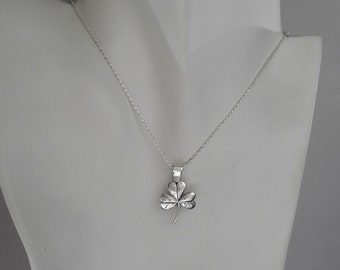 Sterling Silver Shamrock Pendant Made in Montana Gift Shamrock Jewelry Spring Necklace Men's Shamrock Necklace Women's Necklace Lucky Charm