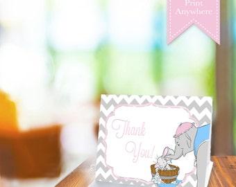 Sweet Dumbo Thank You Card! **DIGITAL FILE** Print Anywhere!