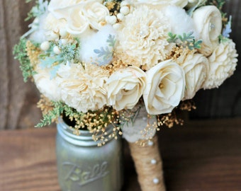 Sola Bouquet, Wedding Bouquet, Rustic Wedding, Bridal Bouquet, Country Wedding