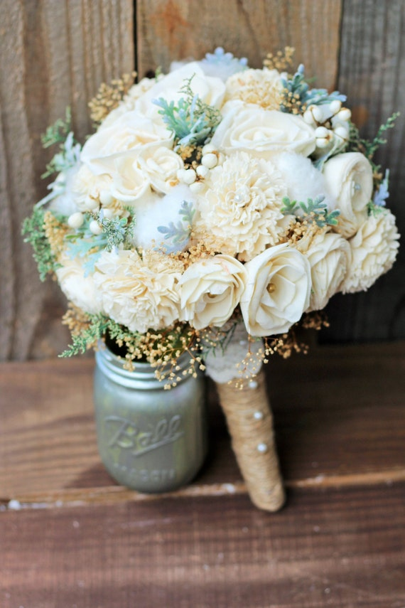 country wedding flowers sola bouquet wedding bouquet rustic wedding bridal bouquet 3130