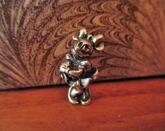 Vintage Disney Large Minnie Mouse Charm, Sterling Silver