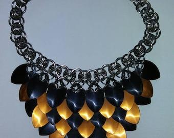 Scale bib necklace
