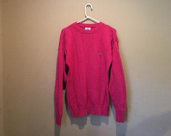 Vintage Lacoste x Izod Collaboration Knit Sweater Pink Size L