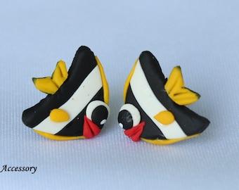 fish earrings, bannerfish, clay fish, clay earrings, earrings clay