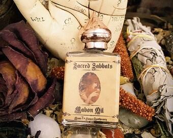 Mabon Oil ~ Sacred, Sabbats, Ritual, Autumn, Equinox, Solstice, Samhain, Fall, Leaves, Pagan, Goddess, Magick, Peridot, Benzoin