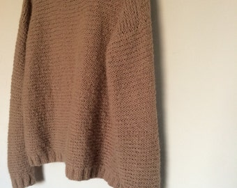 Hand Made Oversized Ladies Knitted Jumper