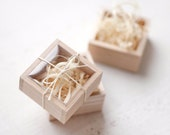 Natural Wooden Boxes SET of 6 - Wooden Gift Box - Wooden Jewelry Box - Jewelry packaging - Gift packaging - Packaging boxes - Favor boxes