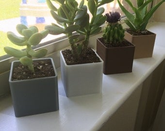 3D printed table planters, Windowsill planter