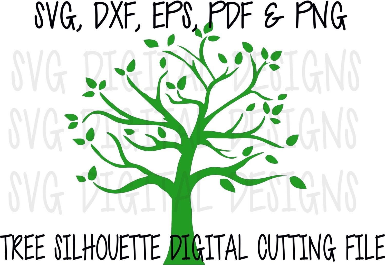 tree svg file svg tree cut out clipart digital tree
