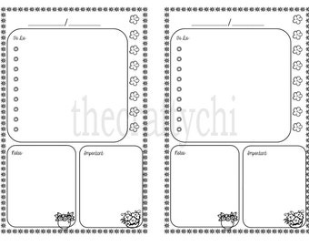 PRINTED Daily Calendar, DO1P, Traveler's Notebook / Fauxdori Insert-  Now Personal AND A6 Size included!!
