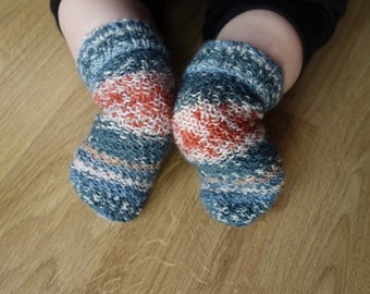 Christmas socks Knit baby socks newborn socks, wool socks, baby girl socks, baby boy socks, kidswear, kids socks, kids fall, UK sellers only