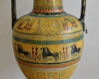 For Sale Geometric Period Amphora Vase - Ancient Greece - Museum Replica of 700 BC