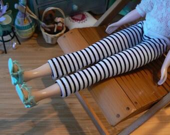 White and black Stripe Legging Blythe  Pants