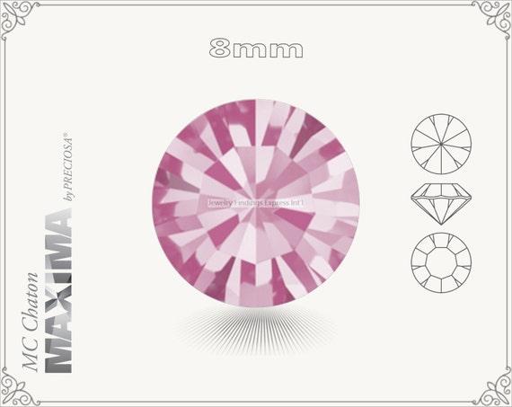 6 pc.+ SS39 (8mm) Preciosa MC Chaton MAXIMA - Rose Color