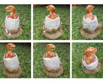 Hatching Baby Velopciraptor Statue