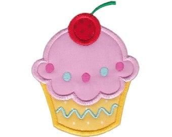Hello Cupcake Applique Design 1 Machine Embroidery Design 4x4 5x7 6x10