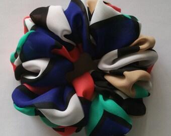 Multicolor Chiffon Scrunchie