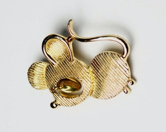 Vintage Sarah Coventry Mouse Brooch