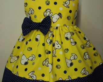 18 inch doll clothes AG doll clothes Girl doll clothes - Handmade - Dress - Snoopy Navy Blue Polka dots