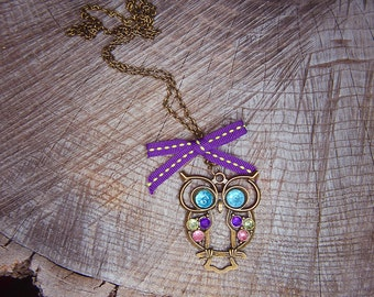 Owl Necklace ~1 pieces #100401