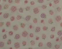Butterflies and Flowers Fitted crib sheet