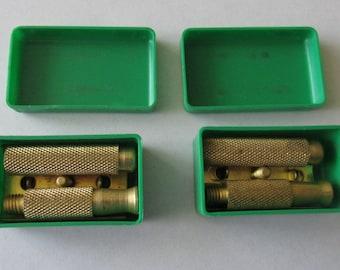 2 Vintage Safety Razors  4 Four Piece Razor  NOS Razor in Little Box  Marked S B