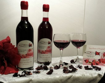 Wedding Favor, Wedding Gift, Custom Label, 750 ml Sorrel Drink, Bachelorette Party, Bachelor Party