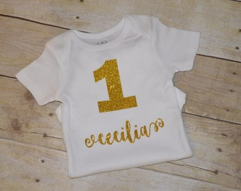 1st birthday onesie with name