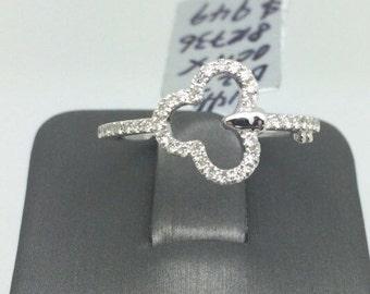 14K Key Style Diamond Ring
