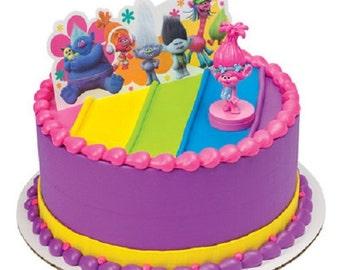 Trolls Cake Decoration Poppy Show Me A Smile Cake Topper Decoration
