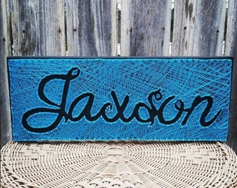 STRING ART - Negative Space Name Plaque