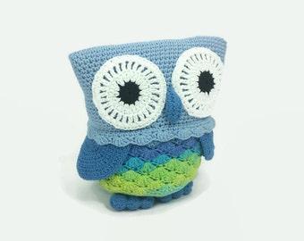 Crochet Owl-Stuffed owl-amigurumi owl-toy owl-crochet stuffed owl-decoration owl-plush owl-owl toy-Kids Owl Plushy Toy