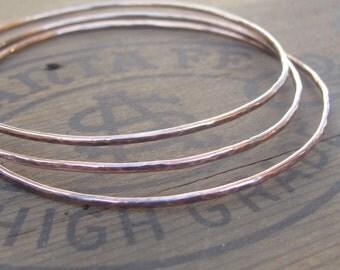 Hammered Copper Bracelet, Copper Bangle Bracelet, Handstamped Bracelet
