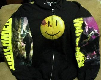Watchmen's Rorschach Hoody.  2nd Gen Zip Up Hoody.