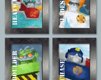 Rescue Bot Posters - set of 4