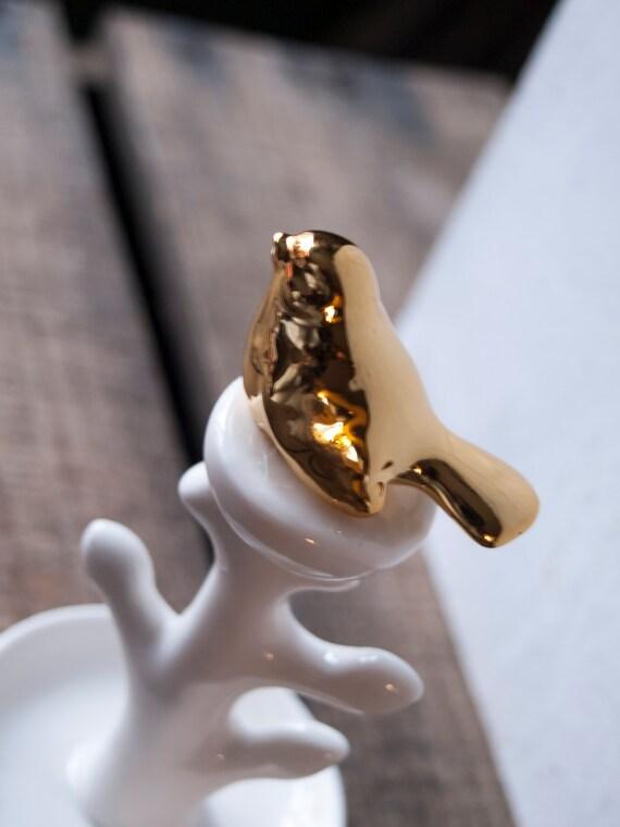 Gold Bird Ring Holder Wedding Gift Ring Dish Jewelry Dish ...