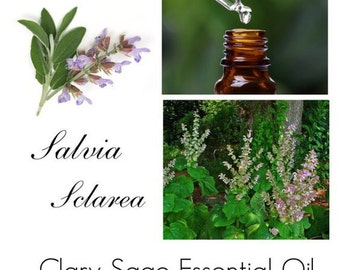 Clary Sage Essential Oil, Clary Sage Oil, Clary Sage Essential Oil Uses, -- 100% Pure Authentic Clary Sage Essential Oil