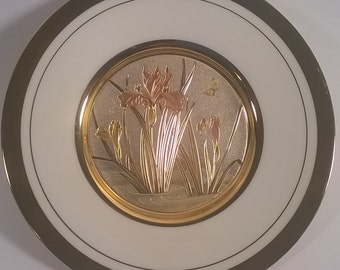 Metal Westland Co. With 24k Gold Trimming Collectible Wall Plate