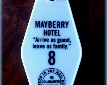 The Andy Griffith Inspired MAYBERRY HOTEL keytag