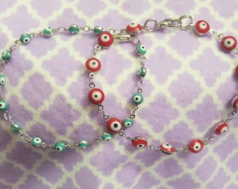 Evil eye toddler bracelet