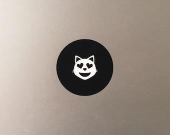 Cat Heart Eyes Macbook Decal / Emoji Macbook Pro Sticker