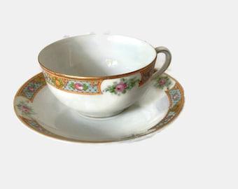 Vintage Noritake Teacup in the Luzon Pattern