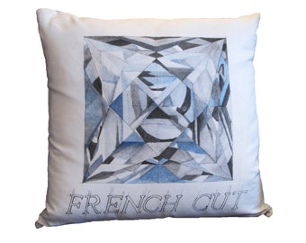 French Cut Diamond Pillow